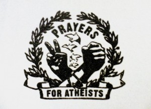 Prayers For Atheists 3x4 Patch (White) by Jared Paul